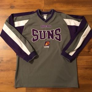 Vtg PHOENIX SUNS Embroidered Long Sleeve Jersey